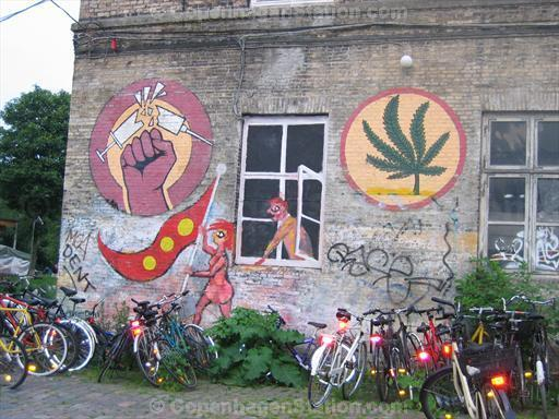 Christiania Against Hard Drugs Painted Wall