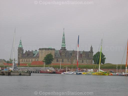 Kronborg Castle and Boats in Helsingor, Denmark